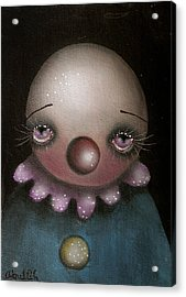 Sad Clown Acrylic Print by  Abril Andrade Griffith