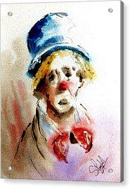 Sad Clown Acrylic Print by Steven Ponsford