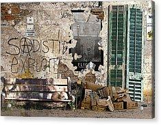 Sadistic Exploits Acrylic Print by Tom Romeo
