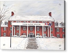 Sae Fraternity House At Uofa Acrylic Print by Tansill Stough