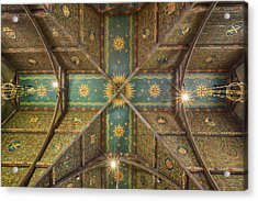 Sage Chapel Ceiling #1 - Cornell University Acrylic Print by Stephen Stookey