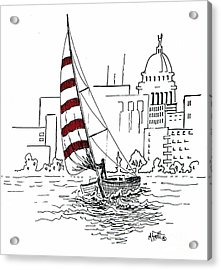 Sail Away Acrylic Print by Marilyn Smith