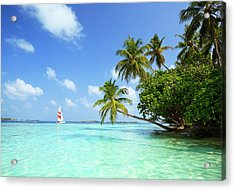 Sail Boat, Indian Ocean Acrylic Print by Matteo Colombo