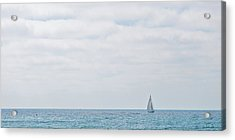 Sail On Blue - Widescreen Acrylic Print by Peter Tellone