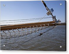 Sailboat Bowsprit Acrylic Print by Dustin K Ryan