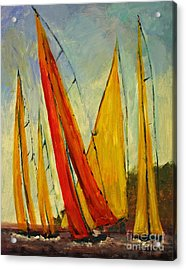Sailboat Studies 2 Acrylic Print by Julie Lueders
