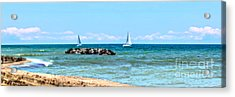 Sailing Days On Lake Erie Panorama Acrylic Print by Randy Steele