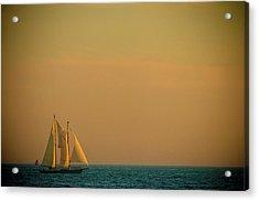 Sails Acrylic Print by Sebastian Musial