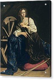 Saint Catherine Of Alexandria Acrylic Print by Caravaggio