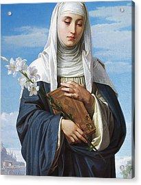 Saint Catherine Of Siena Acrylic Print by Alessandro Franchi
