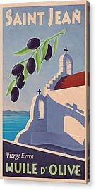 Saint Jean Olive Oil Acrylic Print by Mitch Frey