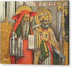 Saint Jerome And Saint Gregory Acrylic Print by Antonio Vivarini