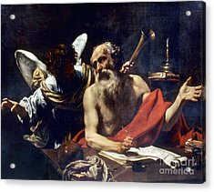 Saint Jerome & The Angel Acrylic Print by Granger