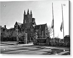 Saint Josephs - Philadelphia Pennsylvania In Black And White Acrylic Print by Bill Cannon