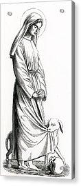 Saint Margaret Of Cortona Acrylic Print by French School