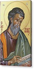 Saint Mathew Acrylic Print by George Siaba
