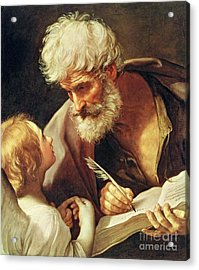 Saint Matthew Acrylic Print by Guido Reni