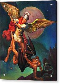 Saint Michael The Warrior Archangel Acrylic Print by Svitozar Nenyuk