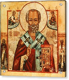Saint Nicholas Acrylic Print by Granger