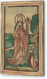 Saint Poppo Acrylic Print by Netherlandish 15th Century