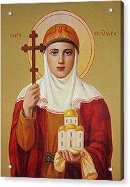 Saint Princess Olga Acrylic Print by Svitozar Nenyuk
