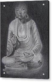 Sakyamuni Acrylic Print by Nick Young
