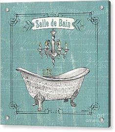 Salle De Bain Acrylic Print by Debbie DeWitt