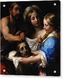 Salome With The Head Of Saint John The Baptist Acrylic Print by Onorio Marinari