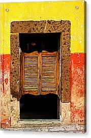 Saloon Door 1 Acrylic Print by Mexicolors Art Photography