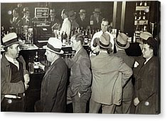 Saloon Opens - Prohibition Ends 1933 Acrylic Print by Daniel Hagerman