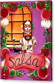 Salsa Acrylic Print by Heather Calderon