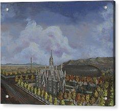 Salt Lake City Temple Square Nineteen Twelve Left Panel Acrylic Print by Jeff Brimley