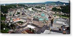 Salzburg Panoramic Acrylic Print by Adam Romanowicz