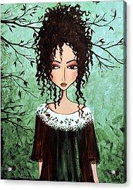 Samantha's Chocolate Tree Acrylic Print by Debbie Horton