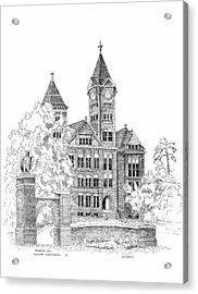 Samford Hall Acrylic Print by Barney Hedrick