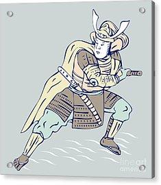 Samurai Warrior Acrylic Print by Aloysius Patrimonio
