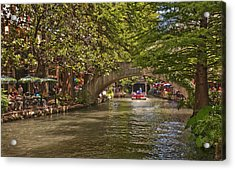 San Antonio Riverwalk Acrylic Print by Steven Sparks