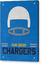 San Diego Chargers Vintage Art Acrylic Print by Joe Hamilton