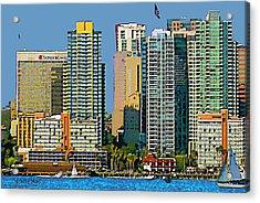 San Diego Downtown Living - Bayside Acrylic Print by Russ Harris