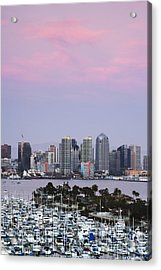 San Diego Skyline And Marina At Dusk Acrylic Print by Jeremy Woodhouse