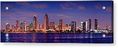 San Diego Skyline At Dusk Acrylic Print by Jon Holiday