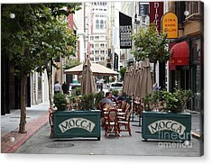 San Francisco - Maiden Lane - Outdoor Lunch At Mocca Cafe - 5d17932 Acrylic Print by Wingsdomain Art and Photography