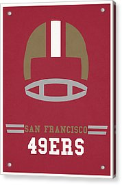 San Francisco 49ers Vintage Art Acrylic Print by Joe Hamilton