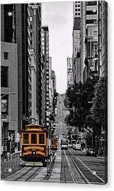 San Francisco Cable Car Acrylic Print by Jeff Dalton