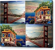 San Francisco Charm Acrylic Print by Irving Starr