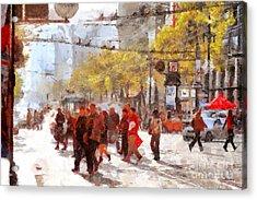San Francisco Market Street . 40d3701 Acrylic Print by Wingsdomain Art and Photography