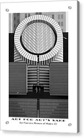 San Francisco Museum Of Modern Art Acrylic Print by Mike McGlothlen