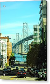 San Francisco Street Acrylic Print by Donna Blackhall