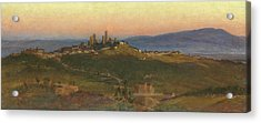 San Gimignano, 1898 Acrylic Print by Edith Ridley Corbet