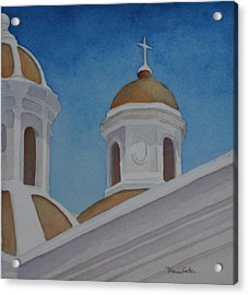 San Juan Cathedral Acrylic Print by Diane Cutter
